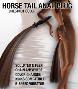Horse Tail Anal Plug Chestnut